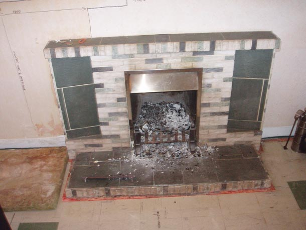 Fireplace to be removed