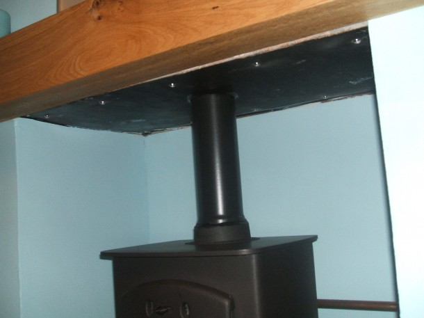 Steel Base to chimney